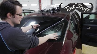 Easiest Way to Tint a Back Window!!   How to Tint a Rear Windshield