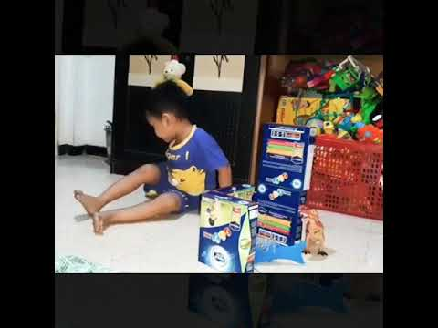 Smart kids playing with animals