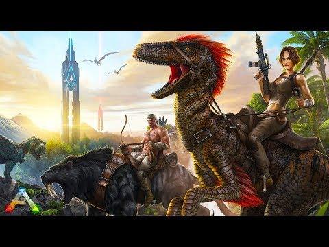 Ark Survival Evolved 100x server defending base XD