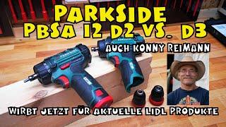 Lidl - PARKSIDE® Akku Bohrschrauber PBSA 12 D2 - Vorstellung, Einsatz, Vergleich zum D3 und C2
