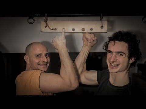 Adam Is Trying One Finger Pull-Up