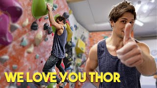 Zero Stars Masterpiece problem - Thor is not happy, good times! by Eric Karlsson Bouldering