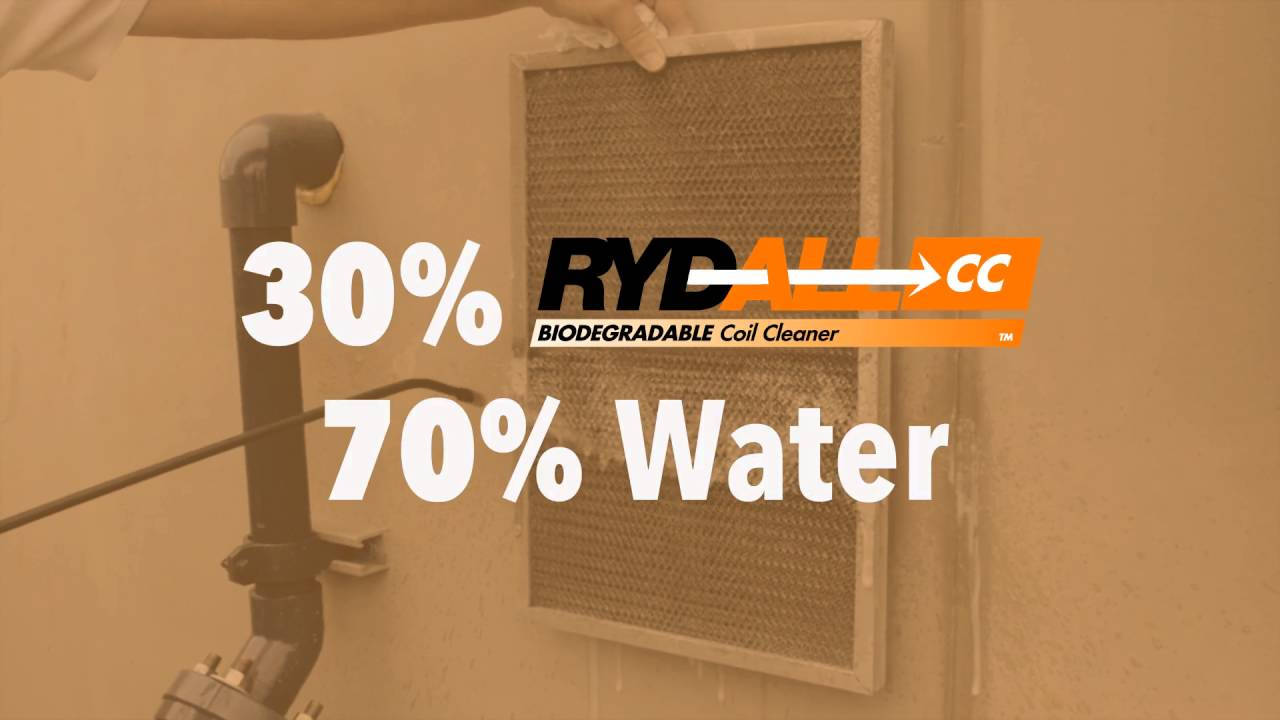 RYDALL CC cleans a rooftop unit!