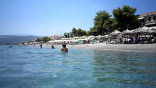 At the beach in Paralio Astros  Greece [HD video]