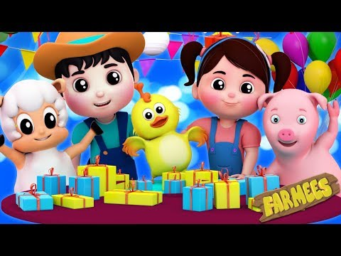 Download Happy Birthday Song | Party Song | Nursery Rhymes | Kids Songs by Farmees HD Mp4 3GP Video and MP3