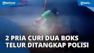 Dua Pria yang Nekat Gasak Dua Boks Telur di Warung Kelontong di Pedan Klaten Diciduk Polisi