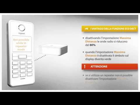 Gigaset Tutorial_Come attivare la funzione ECO DECT del tuo telefono