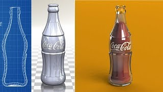 Coca Cola Contour Glass Bottle Designing In Solidworks | Coca Cola Contour Glass Bottle Design CAD