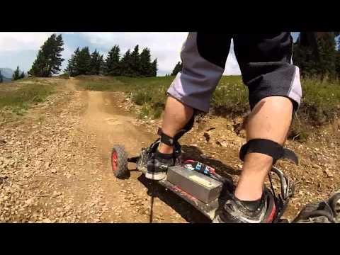 Elektro-Mountainboard 2x3000W  vs. Châtel Bikepark 2015