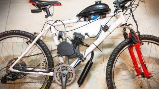 TUTORIAL BICIMOTO   Como Montar un Motor de Gasolina en tu Bicicleta   Kit 80cc