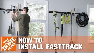 How To Install The Rubbermaid FASTTRACK Organization System | The Home Depot