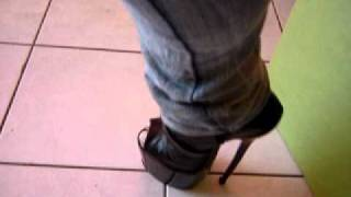 New peep toe extreme heel ankle boots 3