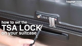 How to Set the TSA Lock Combination on a Suitcase | luggage.co.nz