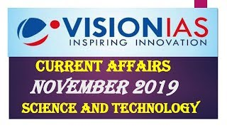 SCIENCE AND TECHNOLOGY NOVEMBER 2019-VISION IAS CURRENT AFFAIRS:UPSC/STATE_PSC/SSC/RBI