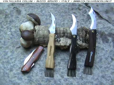 Coltello Funghi - mushroom knife - Viper,  Maserin,  corno, legno - Coltelleria Collini