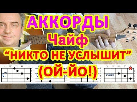 Ой-йо Никто не услышит Аккорды ♪ Чайф ♫ Разбор песни на гитаре 🎸 Бой Текст
