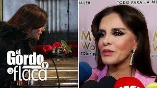 Lucía Méndez se defiende de quienes sugirieron que tomó alcohol antes del funeral de José José | GYF