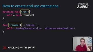 How to create and use extensions – Swift for Complete Beginners