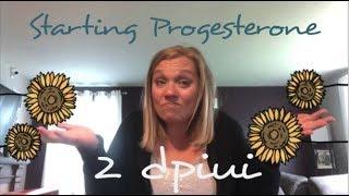 2 dpiui - 2 days post iui || Starting Progesterone || TTC with Femara and IUI