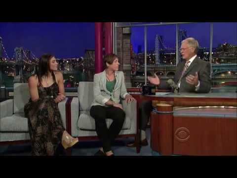 Hope Solo and Abby Wambach from the U.S. Soccer Team on David Letterman - 07/19/11