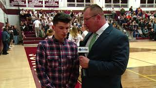 Mikey Buscetto halftime interview