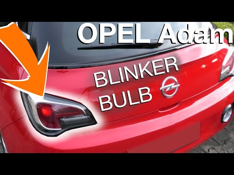 Opel Adam Rear blinker bulb replacement DIY (how to)