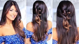 Simple Knotted Hairstyle for Medium and Long Hair