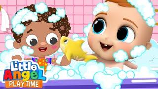 Bath Time with the New Best Friend | Little Angel Kids Songs & Nursery Rhymes