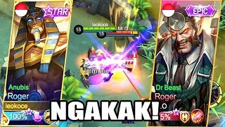NGAKAK! ROGER STARLIGHT VS ROGER EPIC KUATAN MANA? -  Mobile Legends Indonesia