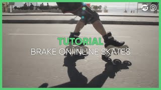 How to BRAKE? Inline skating tutorial with 3 wheel skates - learn Triskating