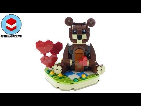 Vidéo LEGO Saisonnier 40462 : L'ours brun de la Saint-Valentin