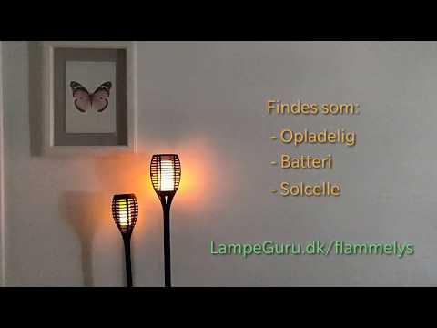 Fakler med solcellelys