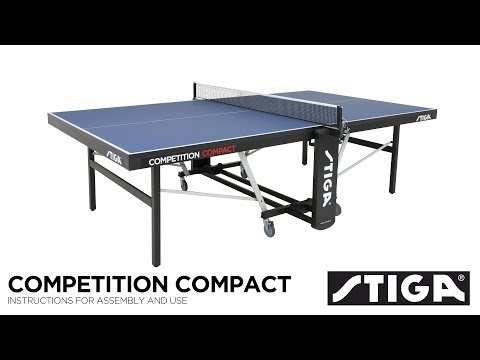 Stiga Competition Compact ITTF Indoor Table Tennis Table Assembly