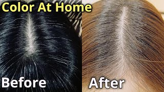 Color Gray And Black Hair With Medium Blonde Hair Color At Home || No Bleach Urdu Hindi