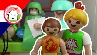 Playmobil filmpjes Nederlands ziekenhuis - Hartaanval - Familie Huizer -