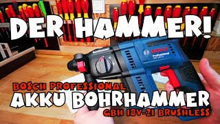 Bosch Professional GBH 18V-21 Akku Bohrhammer brushless