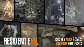 RESIDENT EVIL 7 [PS4 Pro]   ALL MADHOUSE BOSS FIGHTS