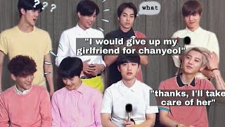 young exo were wildin' in interviews