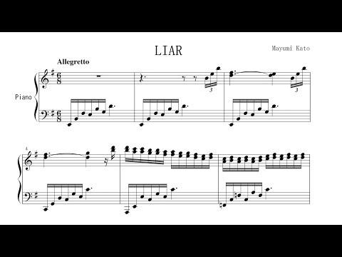 """Liar"" by Mayumi Kato FREE SHEET MUSIC P. Barton, FEURICH piano"