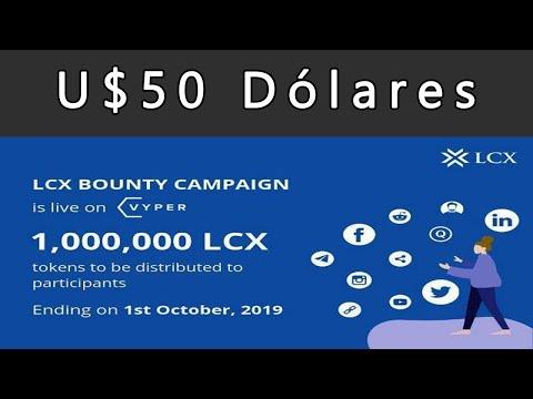 Ganhe no mínimo U$50 Dólares em tokens no Bounty LCX . CORRE !!!!!