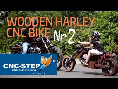 Aus Holz gefrästes Motorrad: Teil 2