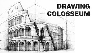 Colosseum Perspective Drawing #3 | Famous Architecture