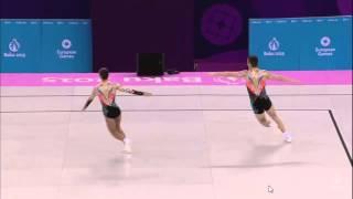 JJEE Baku 2015 - Aerobic - F  MP - Russia (Dukhik Dzhanazian-Denis Solovev