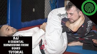 BJJ 6 Essential Submissions from Guard Tutorial