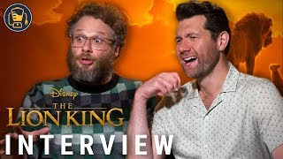 The Lion King Exclusive Interviews with Seth Rogen, Billy Eichner and More
