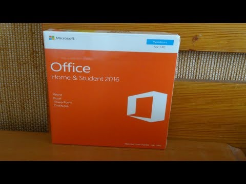 Unboxing: Microsoft Office Home and Student 2016