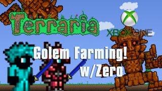 Terraria Xbox One - EASY GOLEM FARM!  W/ZEROxFUSIONZ