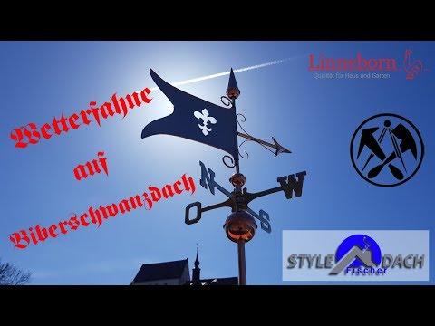 Wetterfahne auf Biberschwanzdach in Colditz - Linneborn Wetterfahnen - Kupfer