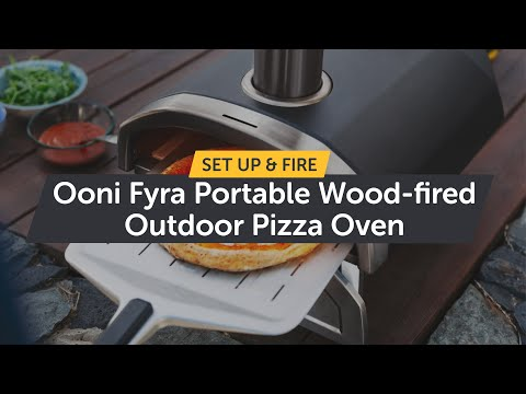 Ooni Fyra - Portable Wood-fired Outdoor Pizza Oven - How to Setup & Light it