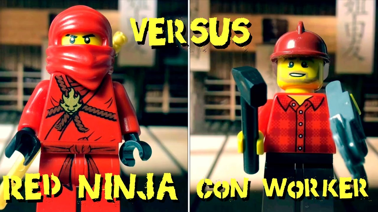Red ninja vs Con worker - Club de la lucha Lego - Lego fight club - Lego stop motion -